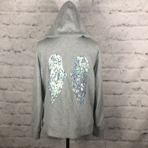 NWOT VS Angel Wings Sweatshirt Jacket Sz Medium
